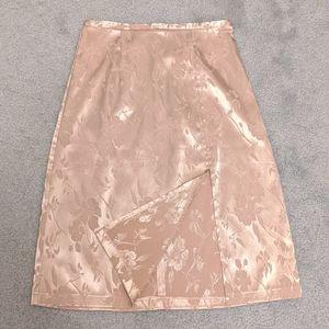 Embroidery pattern satin split skirt Sz XS *Rare*